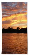 Colorful Sky At Sunset Beach Towel