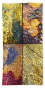 Colorful Slate Tile Abstract Composite Sq1 Beach Towel