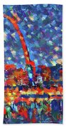 Colorful St Louis Skyline Beach Towel