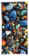 Colorful Stones I Beach Towel