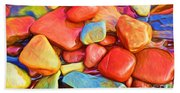 Colorful Stones Beach Sheet