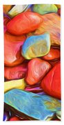 Colorful Stones Beach Towel