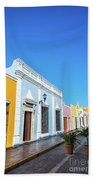 Colorful Street In Campeche, Mexico Beach Towel