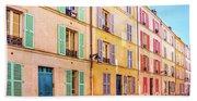 Colorful Street In Paris Beach Sheet