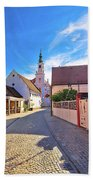 Colorful Street Of Baroque Town Varazdin View Beach Towel