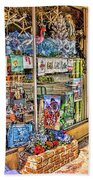 Colorful Streets Of The City Of Stuart Beach Towel