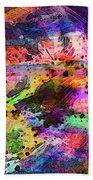 Colorful Sunset Debris  Beach Towel