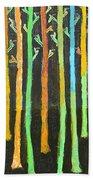 Colorful Trees Beach Sheet
