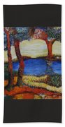Colorful Trees Beach Towel