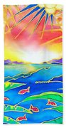 Colorful Tropics 12 Beach Towel