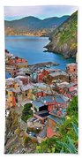 Colorful Vernazza From Behind Beach Towel