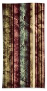 Colorful Vertical Stripes Background In Vintage Retro Style  Beach Towel