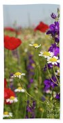 Colorful Wild Flowers Nature Spring Scene Beach Towel