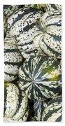 Colorful Winter Acorn Squash On Display Beach Towel