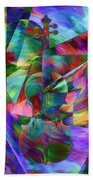 Colors And Geometries For A Violin  Beach Towel