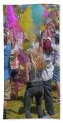 Colors Go Up Beach Towel