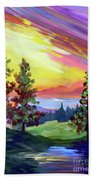 Colors In The Sky Beach Towel