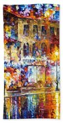 Colors Of Emotions - Palette Knife Oil Painting On Canvas By Leonid Afremov Beach Towel