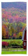 Colors Of New England Beach Towel
