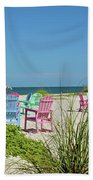 Colors Of The Seats Beach Towel
