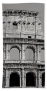 Colosseum Or Coliseum Black And White Beach Towel