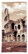 Colosseum Toned Sepia Beach Towel