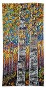 Colourful Autumn Aspen Trees By Lena Owens @olena Art Beach Towel