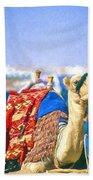 Colourful Camel Beach Towel