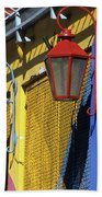 Colourful Lamps La Boca Buenos Aires Beach Towel