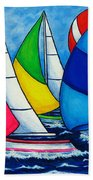 Colourful Regatta Beach Towel