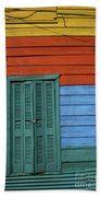 Colourful Shutters La Boca Buenos Aires Beach Towel