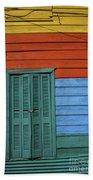 Colourful Shutters La Boca Buenos Aires Beach Towel