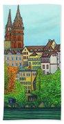 Basel, Colours Of Basel Beach Towel by Lisa Lorenz