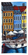 Colours Of Nyhavn Beach Towel