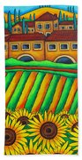 Colours Of Tuscany Beach Towel