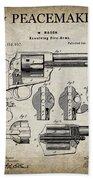 Colt .45 Peacemaker Revolver Patent  1875 Beach Towel