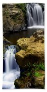 Columba River Gorge Falls 2 Beach Towel