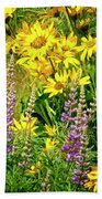 Columbia Gorge Wildflowers Beach Towel