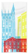 Columbia Mo Skyline Pop Beach Towel
