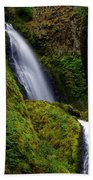 Columbia River Gorge Falls 1 Beach Towel
