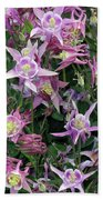Columbine Splendor Beach Towel