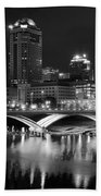 Columbus Black Night Beach Towel