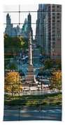 Columbus Circle Beach Towel by S Paul Sahm