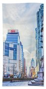 Columbus Circle Beach Towel