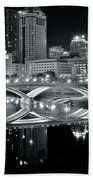 Columbus Ohio Black And White Beach Towel