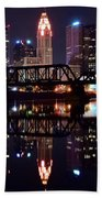 Columbus Ohio Reflecting On The River Beach Towel