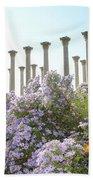Column Flowers To The Sky Beach Towel