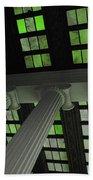 Column Stain Green Beach Towel