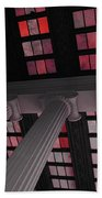 Column Stain Red Beach Towel