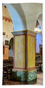 Columns At San Juan Bautista Mission Beach Towel